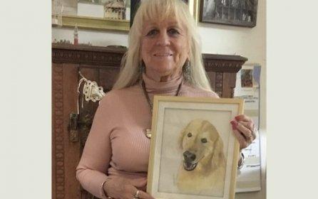 8X10 pastel dog portrait by Betsy Koscher $100.00